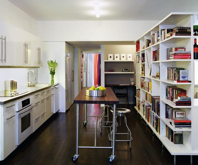 Sterling Apartment - Modern - Kitchen - New York - by Leone Design Studio