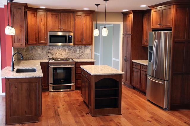 Stilwell Kitchen Remodel, 90s White Kitchen Transformed To Warm .