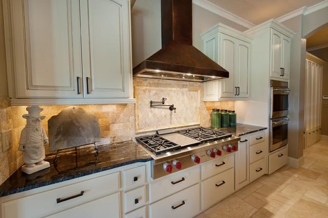 Stone 2011 Tour House Travertine - Traditional - Kitchen - Portland ...
