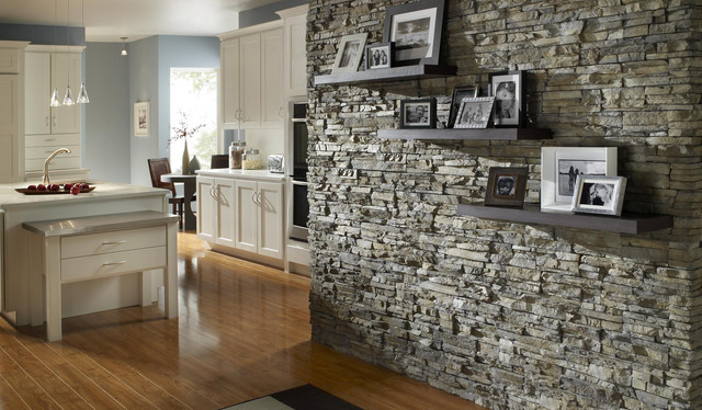 Kitchen Accent Wall stone accent wall