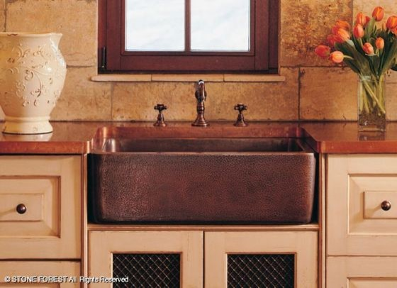 Stone Forest Farmhouse Sinks American Traditional Kitchen
