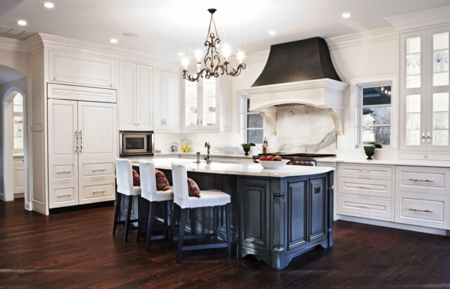Stone Kitchen Hood in beautiful Denver kitchen - Traditional - Kitchen - denver - by Distinctive ...