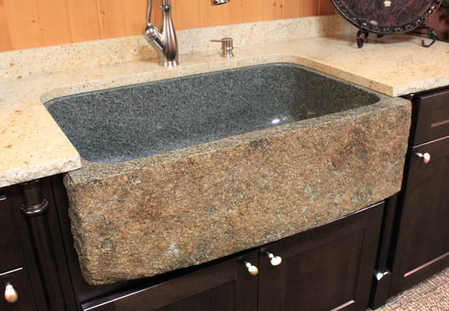 Stone Kitchen Sinks - Farmhouse - Kitchen Sinks - other metro - by ...