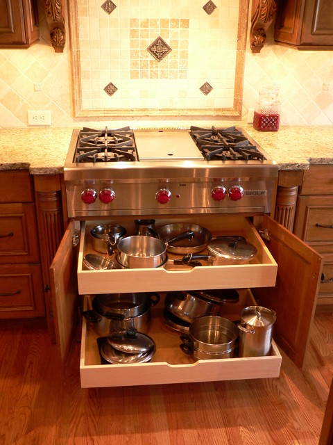 Storage Ideas - Traditional - Kitchen - Raleigh - by J Maness Designs