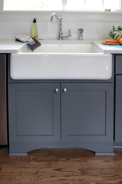 farmhouse sink cabinet kitchen with gray transitional milwaukee 15282