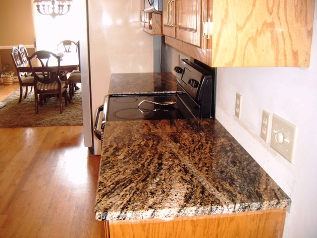 STORMY NIGHT GRANITE for Oak Cabinets Traditional  : traditional kitchen from www.houzz.com size 640 x 480 jpeg 84kB