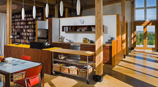 Straw Bale House contemporary-kitchen