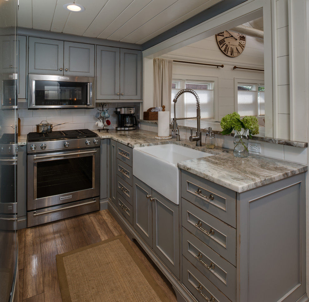Strawberry Lake Cottage Small Space Major Makeover Beach Style Kitchen Detroit By Emery Design Woodwork Houzz