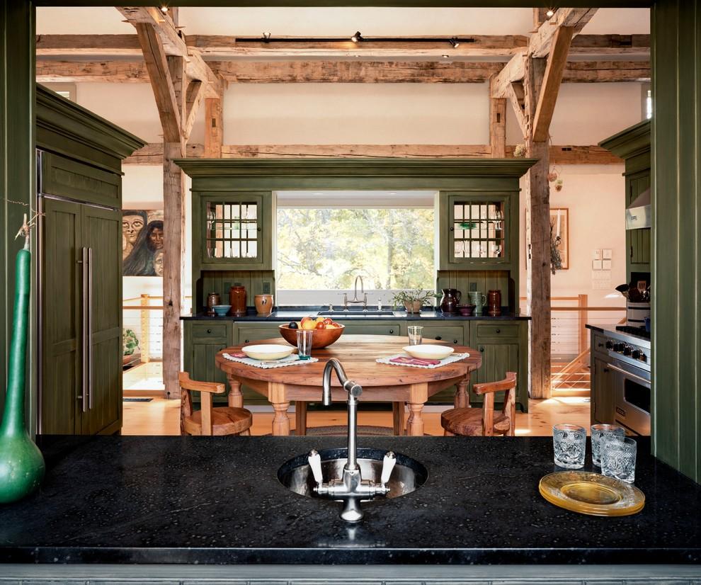 Streamside Barn House Kitchen Detail Kitchen New York By Haver Skolnick Llc Architects Houzz