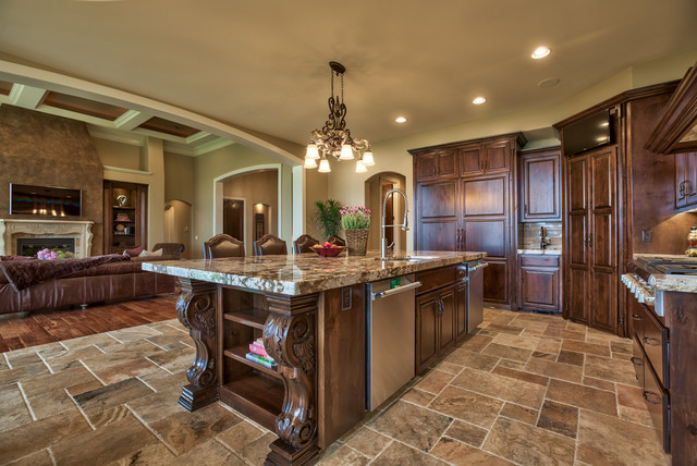 Street Of Dreams Tuscan Villa Mediterranean Kitchen