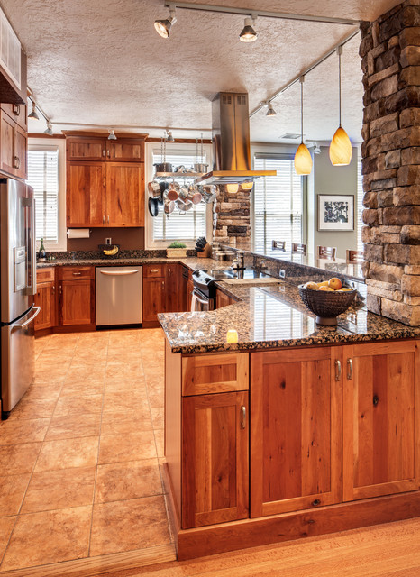 Studio Apartment Remodel Rustic Cherry Traditional