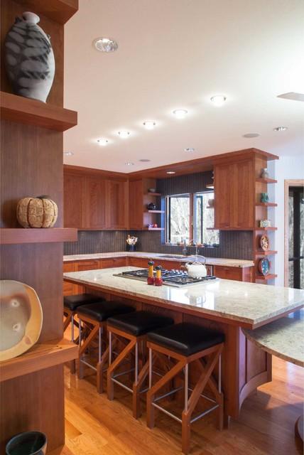 Stumbo Kitchen Arts Crafts Kitchen Cedar Rapids By Akar Architecture