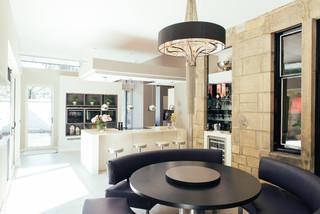 Stunning extended kitchen contemporary kitchen for Kitchen furniture glasgow