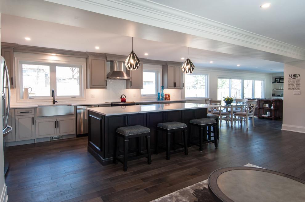 Stunning Grey Kitchen - Burlington, Ont. - Contemporary ...