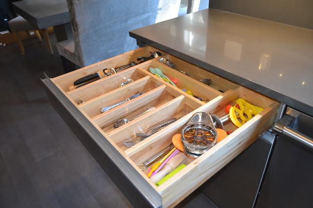 Stunning Grey Kitchen modern-kitchen