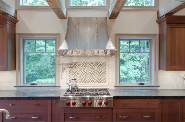 Stunning Rustic Kitchen In Nh Rustic Kitchen Boston By Dream Kitchens