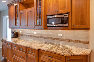 Stunning Surfaces and Unexpected Styles transitional-kitchen