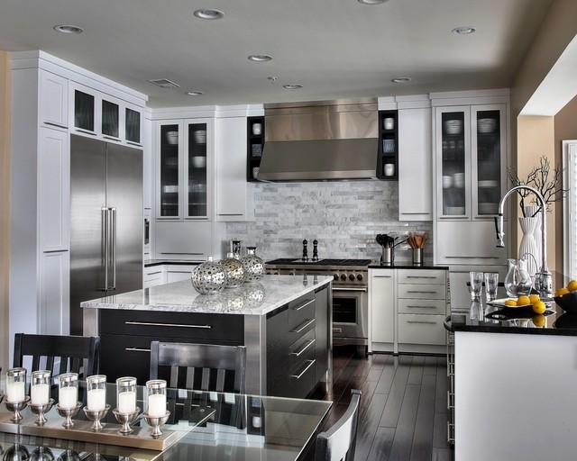 Stunning white contemporary-kitchen