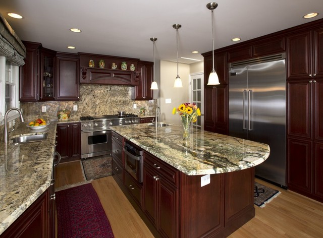 Stunning Whole House Makeover in Vienna, Virginia Includes Piano Conservatory traditional-kitchen