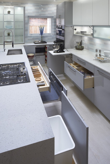 Stunningly modern in norman contemporary kitchen for Bathroom remodel norman ok