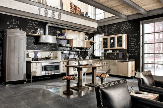 Style Vintage Industrial Kitchen New York By Marchi