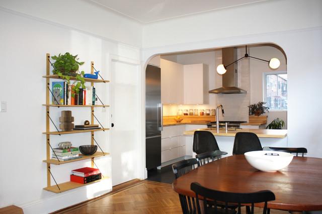 Stylish Ikea Kitchen With Haggeby Doors