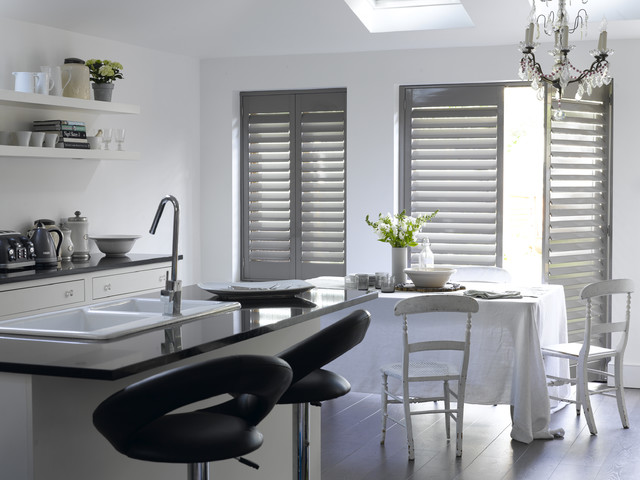 Stylish Interior Shutters Contemporary Kitchen
