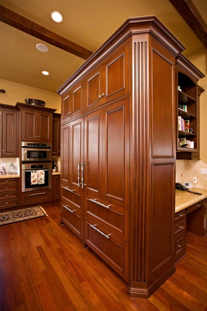 sub zero refrigerator with custom cabinetry traditional kitchen san francisco by bill. Black Bedroom Furniture Sets. Home Design Ideas