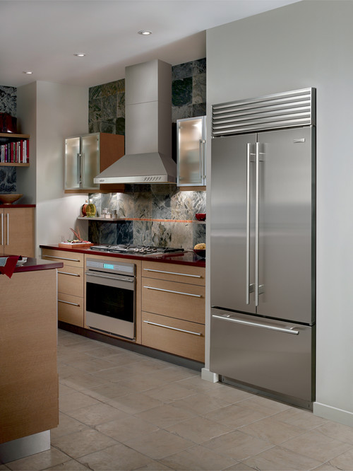 sub zero stainless steel built in refrigerator