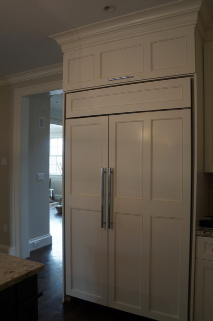 Subzero Refrigerator Panels - Flush Inset - Traditional - Kitchen - Boston - by Taylor Made ...
