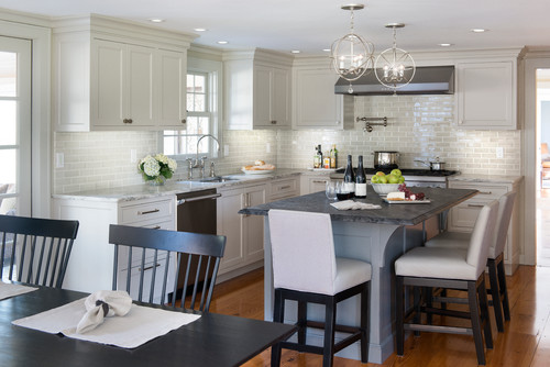 Mix and Match Greige Kitchens