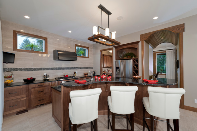 Summerfield south surrey executive home with walnut for Bathroom cabinets surrey bc