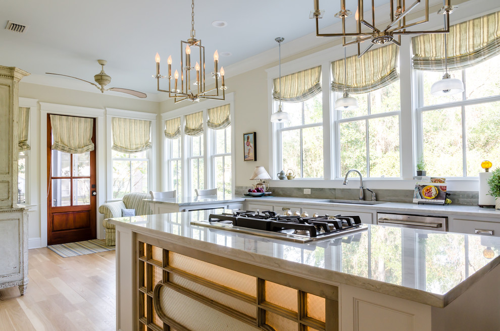 Example of a cottage kitchen design in Other