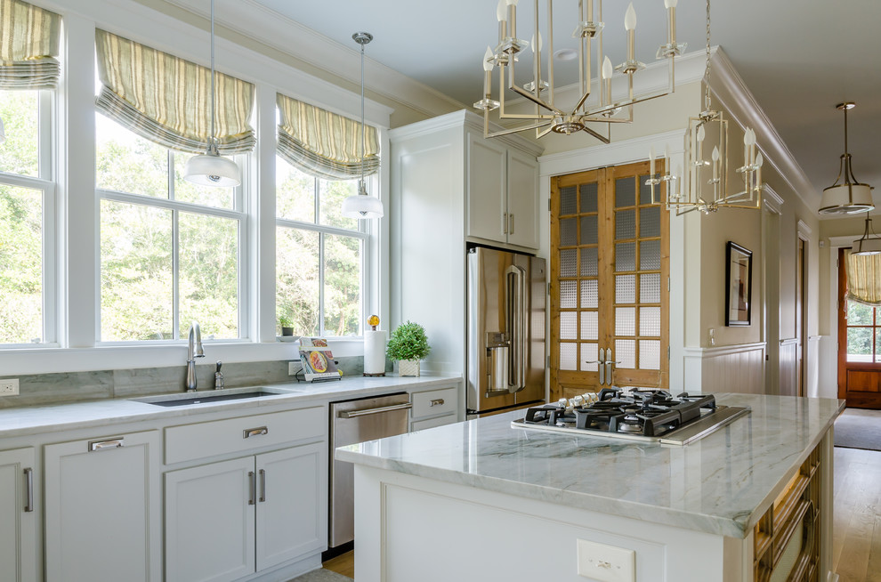 Example of a country kitchen design in Other