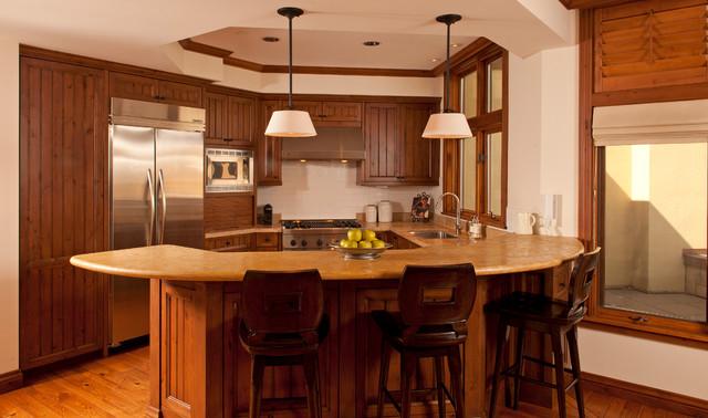 Sun Valley Retreat rustic-kitchen