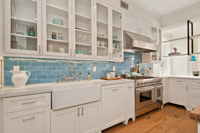 Sunny Bay Area Kitchen - Traditional - Kitchen - san francisco - by Fireclay Tile