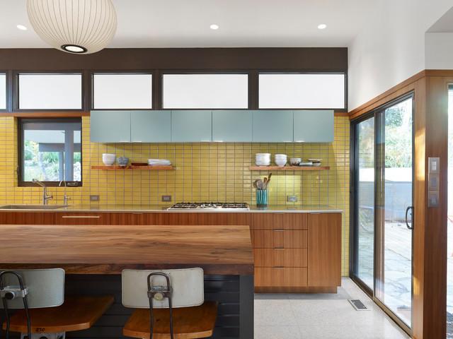 Sunny Mid Century Modern Kitchen Midcentury Kitchen