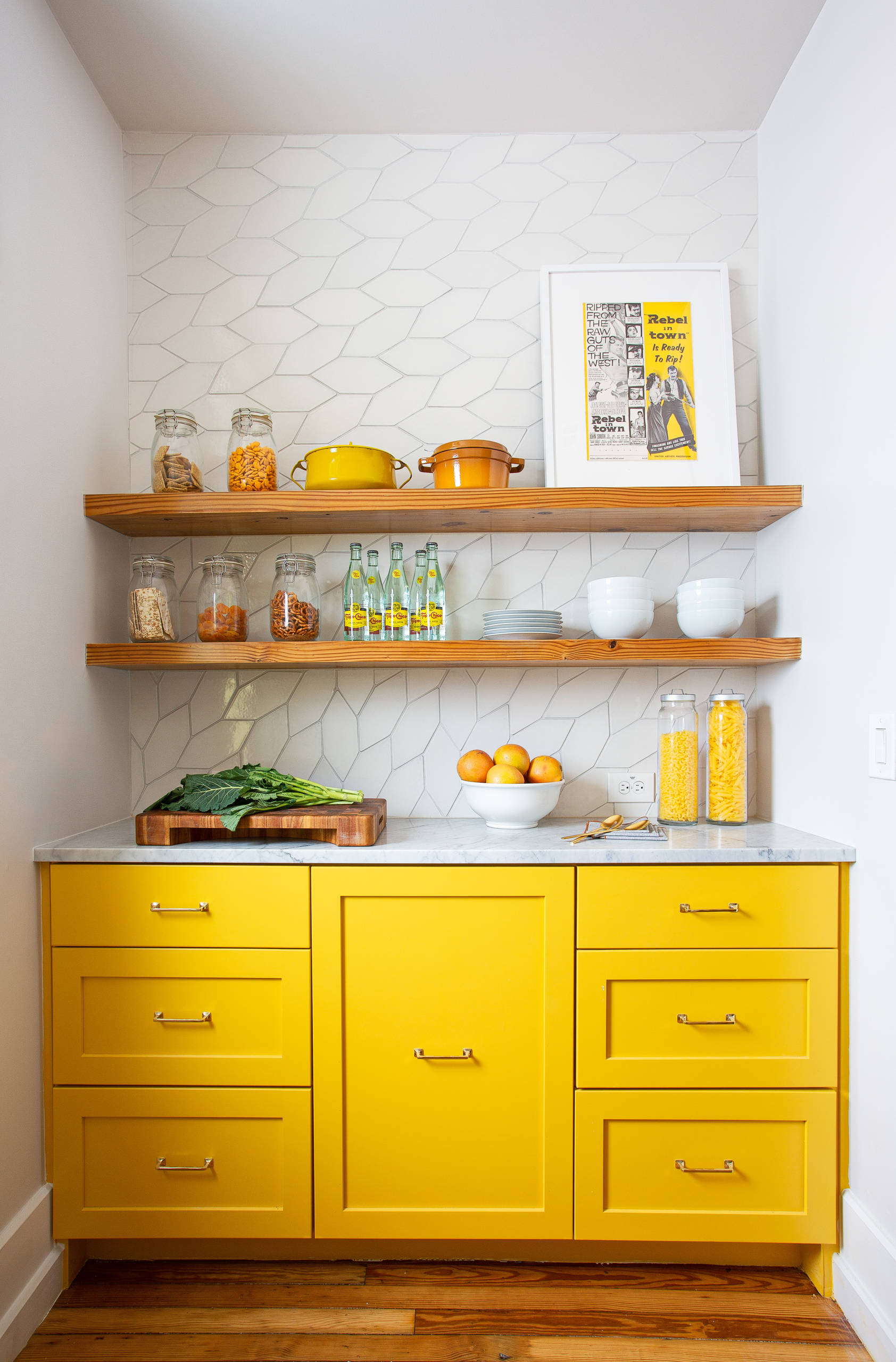 75 Beautiful Kitchen With Yellow Cabinets And Marble Countertops Pictures Ideas December 2020 Houzz
