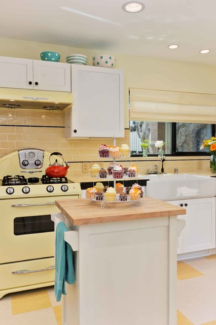 sunny yellow retro kitchen traditional kitchen san diego by