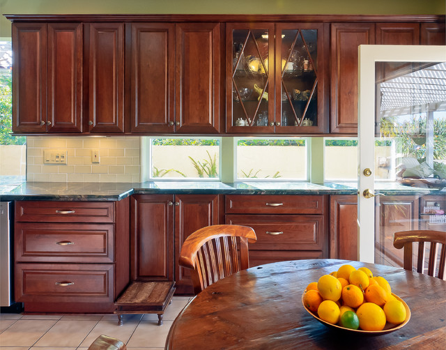 Inspiration For A Timeless Kitchen Remodel In San Diego With Raised Panel  Cabinets, Dark Part 56