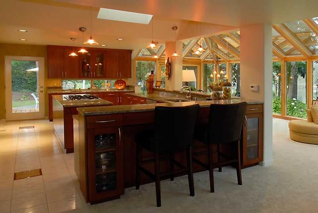 Sunroom And Kitchen Addition Contemporary Kitchen