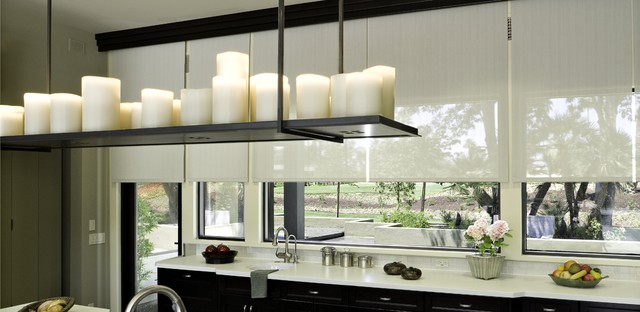 Sunscreens Contemporary Kitchen Orange County By