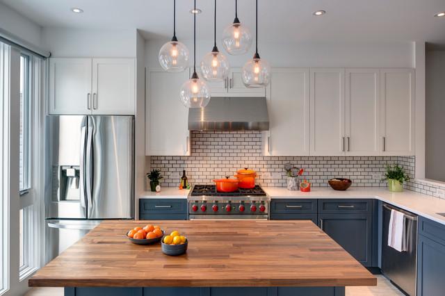 Sunset park brooklyn rowhouse transitional kitchen new york by barker freeman design - Kitchen design brooklyn ...