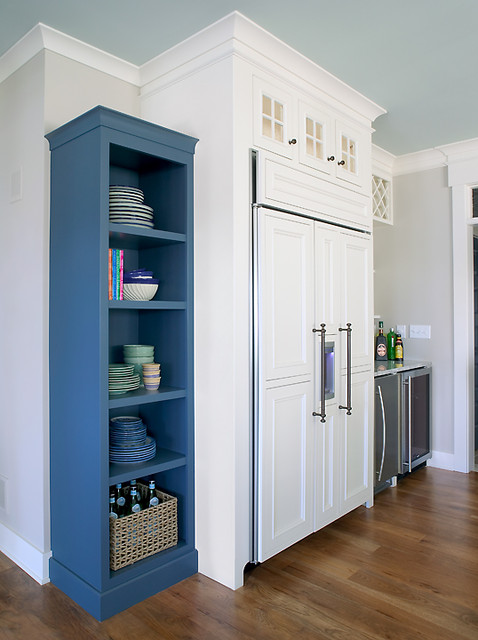 Kitchen Refrigerator & Built-Ins transitional-kitchen