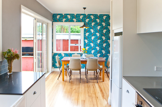 Super Cute Modern Kitchen With A Retro Twist Eclectic Kitchen