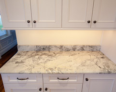 Super White Quartzite Countertops traditional-kitchen