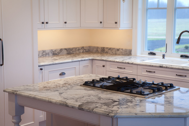 Super White Quartzite Countertops - Traditional - Kitchen
