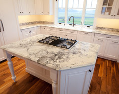 Super White Quartzite Kitchen in Calvert County, MD traditional kitchen