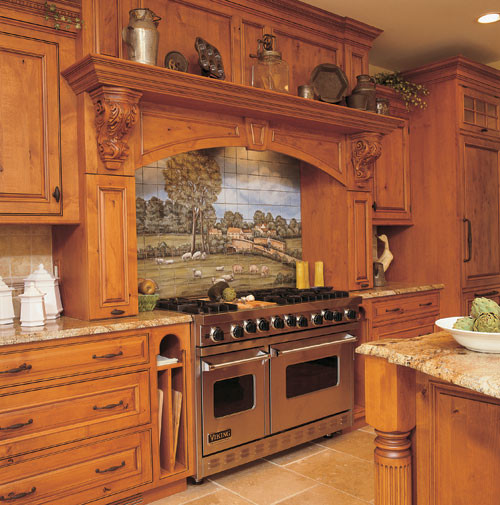 Superior Woodcraft Custom Rustic Alder Kitchen traditional kitchen