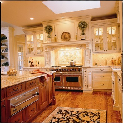 Superior Woodcraft Quintessential Manor House traditional-kitchen